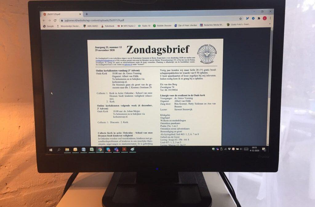 Ontvang Zondagsbrief per mail